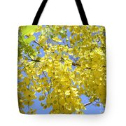 Golden Medallion Shower Tree Tote Bag