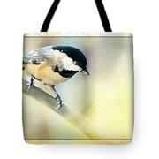 Golden Morning Chickadee Photo Art Tote Bag