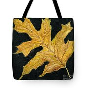 Golden Oak Leaf Tote Bag