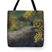 Golden Overhang Tote Bag