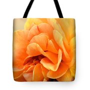 Golden Peach Rose Tote Bag