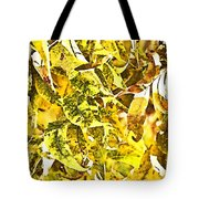 Golden Pecan Leaves Abstract Tote Bag