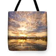 Golden Ponds Scenic Sunset Reflections 2 Tote Bag