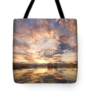 Golden Ponds Scenic Sunset Reflections 3 Tote Bag