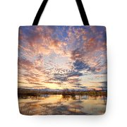 Golden Ponds Scenic Sunset Reflections 4 Tote Bag