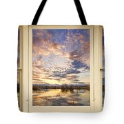 Golden Ponds Scenic Sunset Reflections 4 Yellow Window View Tote Bag