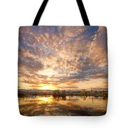 Golden Ponds Scenic Sunset Reflections 5 Tote Bag