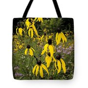 Golden Prairie Coneflower Watercolor Effect Tote Bag