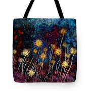 Golden Puffs At Night Tote Bag