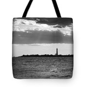 Golden Rays At Cape May Bw Tote Bag