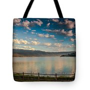 Golden Reflection On Lake Cascade Tote Bag by Robert Bales