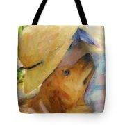 Golden Retriever- A Loving Heart Tote Bag