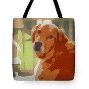 Golden Retriever Profile Tote Bag