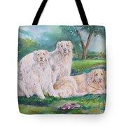 Golden Retriever Trio Tote Bag