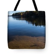 Golden Ripples Bedrock - Fall Reflection Tranquility Tote Bag