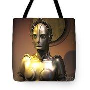 Golden Robot Lady Tote Bag