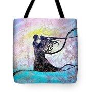 Golden Romance Tote Bag