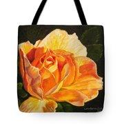 Golden Rose Blossom Tote Bag
