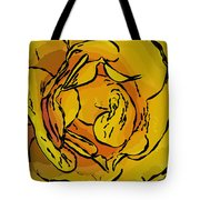 Golden Rose In Style Tote Bag
