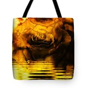 Golden Rose On The Lake Tote Bag