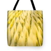 Golden Sand Pattern Created By Surf On Beach Tote Bag