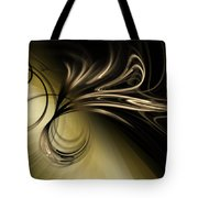 Golden Scroll Tote Bag
