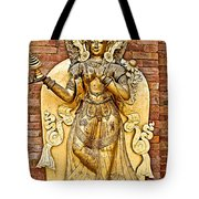 Golden Sculpture In A Hindu Temple In Patan Durbar Square In Lalitpur-nepal Tote Bag