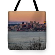 Golden Seattle Skyline Sunset Tote Bag