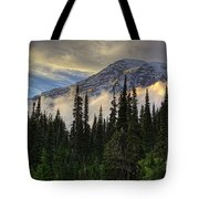 Golden Shawl On The Mountain Tote Bag