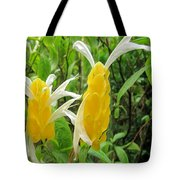 Golden Shrimp Plant Or Lollipop Plant Tote Bag