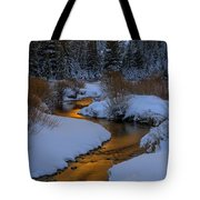 Golden Silence Tote Bag