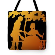 Golden Silhouette Garden Proposal Will You Marry Me Tote Bag