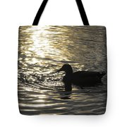 Golden Silhouette  Tote Bag