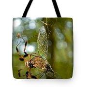 Golden Silk Spider Tote Bag
