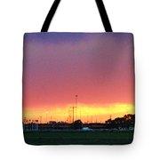Golden Spike Sunset Tote Bag