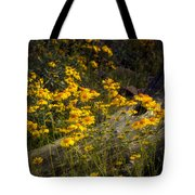 Golden Spring Flowers  Tote Bag