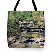 Golden Spring Waters Of Hurricane Branch Tote Bag