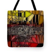 Golden Stained Abstract Tote Bag