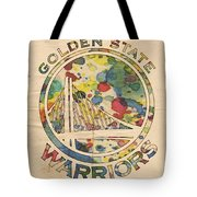 Golden State Warriors Logo Art Tote Bag