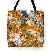 Golden Steel Swirl Tote Bag