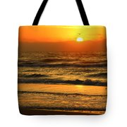 Golden Sun Up Reflection Tote Bag