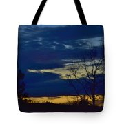 Golden Sunrise Into The Blue Tote Bag