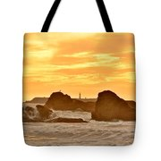 Golden Sunset At Ruby Beach Tote Bag