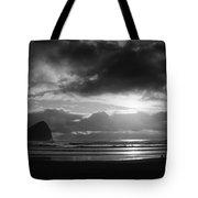 Golden Sunset Bw Tote Bag