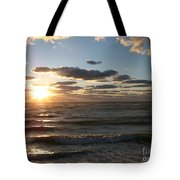 Golden Sunset  Clouds Tote Bag