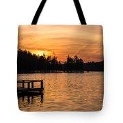 Golden Sunset Lake Horicon Lakehurst Nj Tote Bag