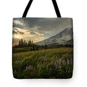 Golden Sunstar Rainier Meadows Tote Bag
