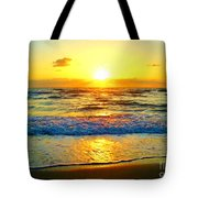 Golden Surprise Sunrise Tote Bag