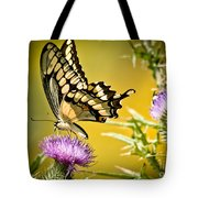 Golden Swallowtail Tote Bag