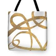 Golden Swirls Square II Tote Bag